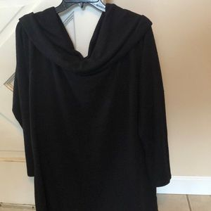 Ana Black cold shoulder sweater